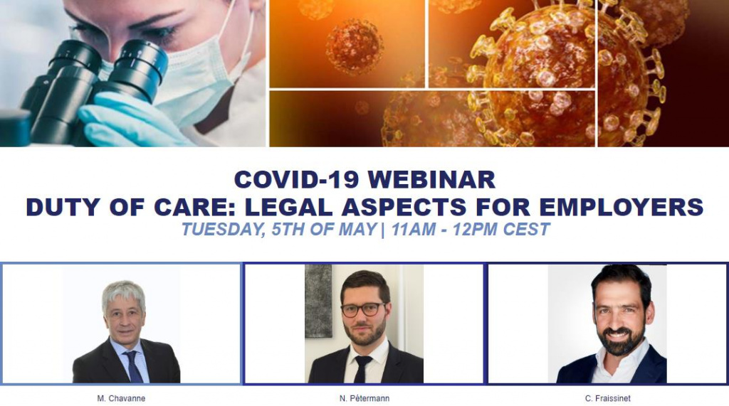 Webinar | COVID-19: Duty of Care legal aspects for employers